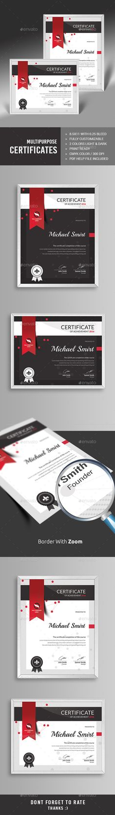 Multipurpose Certificates - Certificates Stationery                                                                                                                                                     More