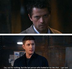 @Destany Smith Hughes  this is the kind of fuel destiel fans run on. i for one cannot wait until it becomes canon...