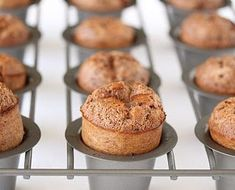 """fullcravings: """" Chocolate Popovers """" Ingredients: 4 large eggs 2 cups fat free milk 2 Tablespoons butter, melted 1 ¾ cups flour ½ teaspoon salt 1 cup sugar 3 tablespoons unsweetened cocoa powder additional 3 tbsp butter for pan Instructions: Baking Recipes, Dessert Recipes, Muffin Recipes, Popover Recipe, San Diego Food, Vegetarian Chocolate, Bread Baking, Baked Goods, Sweet Treats"""