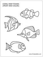 Under the Sea:  Printable sea animals template
