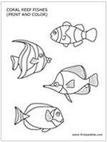 under the sea printable sea animals template nursing home party