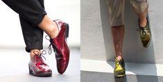 Salvador Nuñez Footwear. Zapatos Para Gente No Convencional. Rojo Cereza y Verde Olivo Tornasol