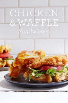 Chicken and Waffle Sandwiches via @PureWow via @PureWow