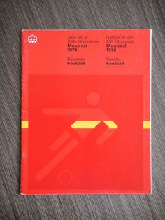 1976 Montréal Olympics Football Results. Designed by Georges Huel and Pierre-Yves Pelletier
