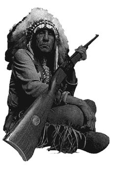 Savage Arms Model 99 with Chief Lame Deer