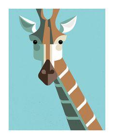 Giraffe Portrait by Josh Brill