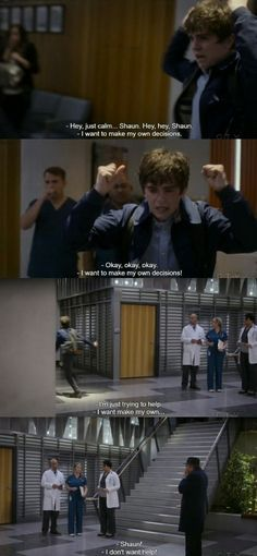 This is my favorite Episode just for this scene! Freddie Highmore's acting skills are on another level! This scene was so powerful, bitter sweet, and beautiful! This show is other worldly! Doctors Tv Series, Good Doctor Series, Doctor Shows, Tv Series 2017, Drama Tv Series, Tv Series To Watch, Abc Shows, Best Tv Shows, Movies And Tv Shows