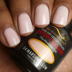 Curly On My Nails Bio Seaweed Gel In Marshmallow One Of Favourites For Sure Love This Colour And Lasting