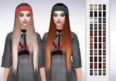 Frost Sims 4: LeahLillith`s Karin hair retextured  - Sims 4 Hairs - http://sims4hairs.com/frost-sims-4-leahlilliths-karin-hair-retextured/
