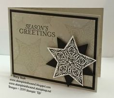 Stampin Up Bright and Beautiful star stamp set card for Christmas or Holidays. #stampinup