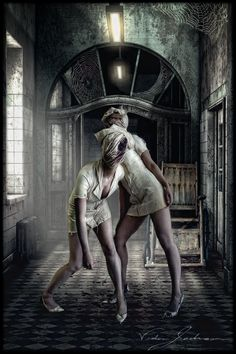 """The Night Shift."" (Need Credit) - Nurses (Silent Hill). Photographed/Edited by EnvisageU"
