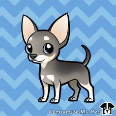 Design your own cartoon pets! Share your creations online or buy them on loads of cool stuff! Chihuahua Drawing, Chihuahua Art, Kawaii Chibi, Cute Chibi, I Love Dogs, Cute Dogs, Friends Sketch, Baby Animals, Cute Animals