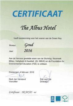 Greenkey gouden certificaat golden certification #green #hotel #greenhotel #Amsterdam #environment