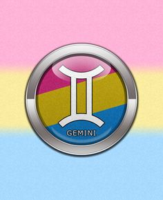 Gemini - Pansexual Pride 	Pansexual Pride Gemini Horoscope Symbol in omnisexual Pride Flag Colors. Round Chrome Frame around Pansexual pink, yellow, and blue flag. 16 June – 15 July	16 June – 15 July	#zodiacGemini	 #Pansexual #pansexy	#liveloudgraphics