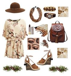 """""""Chocolate Kisses """" by moonlightsilhouette ❤ liked on Polyvore featuring Lipsy, Aquazzura, MooMoo Designs, Porsamo Bleu, Kenneth Jay Lane, Urban Decay, Kathy Jeanne, Nearly Natural and Pottery Barn"""