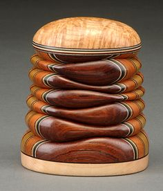 Small Box with Black Ash Burl, Rosewood, and River Birch (rosewood view) - Terry Evans