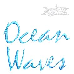 Ocean Wave Embroidery Fonts