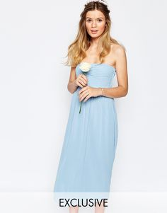 Image 1 of Vila Bandeau Midi Dress