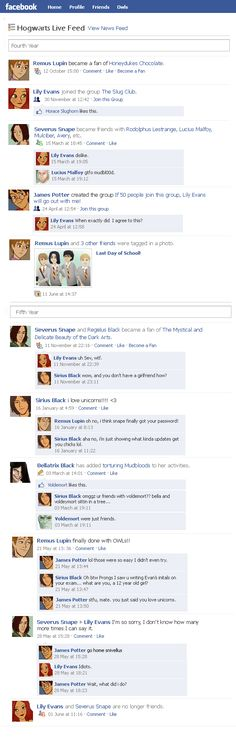 Marauders Facebook Timeline 2 by julvett.deviantart.com on @deviantART