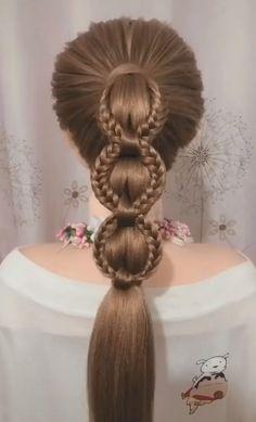 Hairstyles For Medium Length Hair Tutorial, Hair Tutorials For Medium Hair, Ponytail Hairstyles Tutorial, Easy Updos For Medium Hair, Bun Hairstyles For Long Hair, Short Hair Updo, Braids For Long Hair, Braided Hairstyles, Hair Up Styles