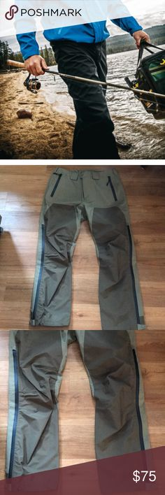 New Cabela's Goretex olive green pants size L Cabela's pants new never used no tags on Cabelas Pants