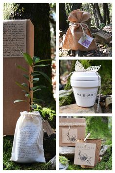 Detalles para organizar una boda eco-friendly: regalos ecology