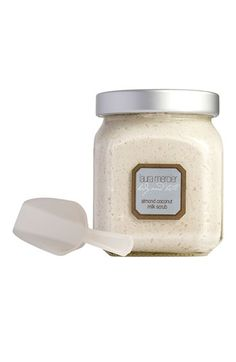 Laura Mercier Almond Coconut Milk Scrub -- smells great, and perfect for prepping before an airbrush or spray #tan