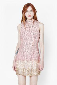 Sunbeamer Highneck Sequin Dress - New Arrivals - French Connection