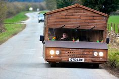 *** EXCLUSIVE - VIDEO AVAILABLE *** OXFORDSHIRE, UNITED KINGDOM - MARCH 08: Kevin Nicks driving his V6 VW Shed at Great Rollright, on March 8, 2016 in Oxfordshire, England. GARDENER Kevin Nicks has taken British eccentricity to a new level - by building the worldís fastest shed. The 51-year-old, from Chipping-Norton in Oxfordshire, set the unlikely world record after reaching a speed of 88.086 mph at an event at Elvington Airfield in York. The high octane shed started life as a humble…
