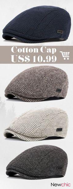 cd7f2e4d4a9  47% off Cotton Gatsby Flat Beret Cap Adjustable Ivy Hat Golf Hunting  Driving. Mens ...