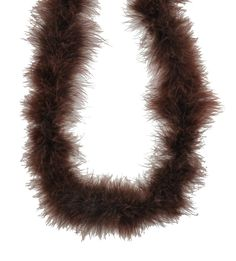 Chocolate brown marabou feather boas for crafting and hair accessories. 15 grams, 6 feet and 2 yards, we have cheap pricing on our wholesale marabou boas.