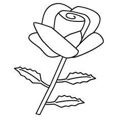 Leuk voor kids kleurplaat - De mooie roos