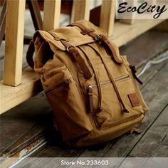 Online Shop Genuine Leather Canvas Backpack Men,Military Tactical Backpack,Girls Vintage School Backpack,Women Laptop Backpack Bag,Rucksack|Aliexpress Mobile