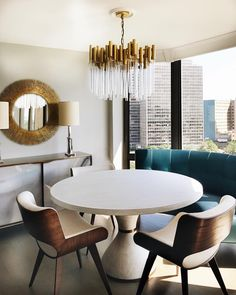 Art Deco Lighting In A Simple Dining Room