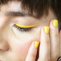 Yellow eyes for yellow nails  ☀️