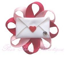 Valentine hair clip