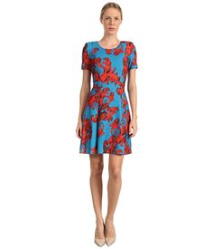 Vibrantly printed dress from Versace Jeans. #fashion #colorlove #zappos