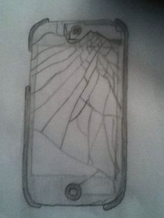 Drawing by a friend she is amazing and I luv her iPod broken