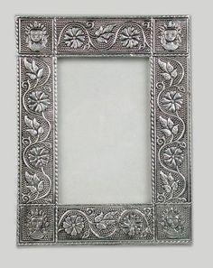 13,80€ Portafotos de metal plateado sol 10x15cm