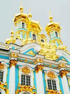 St. Petersberg, Russia - Catherine Palace at Tsarko Selo