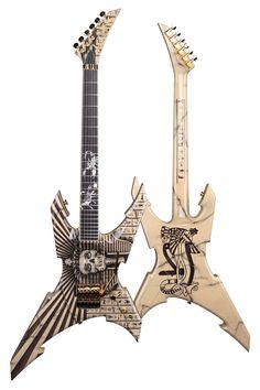 Jackson USA Pablo Custom Shop Warrior Guitar w/ Case - Egyptian FX by Mike Learn
