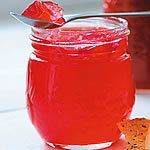 Sharp yet sweet, this jelly is delicious on toast or as an accompaniment to poultry or pork. Use the pinkest rhubarb you can find for vibrant colour.
