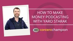On today's show it is my complete honour to be discussing podcast monetization with one of the very first people I ever started following online - the Internet marketing pioneer, Yaro Starak.