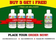 Buy 3 bottles of any health juice from NaturalJuices.co.uk and get 1 bottle of juice FREE!