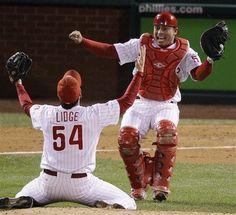 The moment when the Phillies won the 2008 World Series -- magical! 2008 World Series, Funny Motivation, Phillies Baseball, Philadelphia Sports, Sports Fanatics, National League, Sports Photos, Sport Girl, Champion