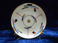 Sold - vendu - Keramis - Ebay - Art deco hand painted german plate. http://www.ebay.fr/usr/keramis