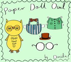 Free Paper Doll Owl pinned by www.myowlbarn.com