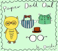 Free Paper Doll Owl pinned by www.myowlbarn.com