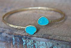 Druzy Cuff Bracelet | Stitch and Stone
