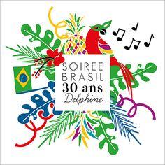 Carte d'invitation anniversaire : Carnaval / Soirée Brasil à personnaliser sur Popcarte.com